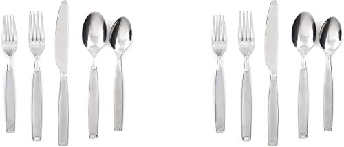 high quality Cambridge Silversmiths Kiona Frost 20-Piece Flatware Silverware Set, Stainless new arrival Steel, Service for 4, Includes Forks/Spoons/Knives (Pack of sale 2) online