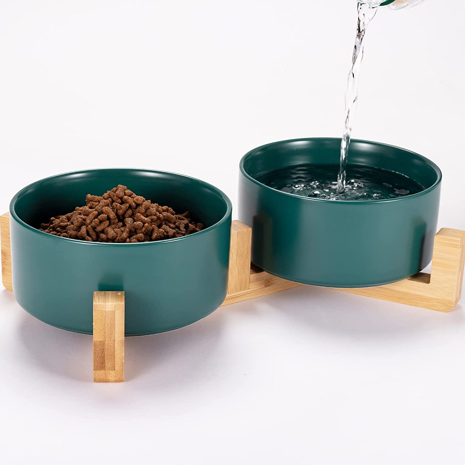 Dog Bowl Raised Food and Ceramic w Water quality assurance Set Ranking TOP4