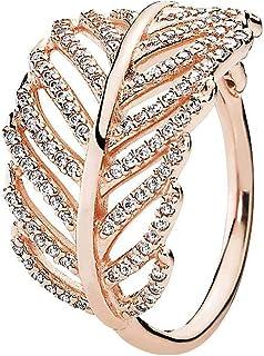 Pandora Women's Gold Plated Rose Cubic Zirconia Fashion Ring - 52 EU - 180886CZ-52