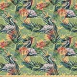 Juego de pegatinas decorativas para azulejos, diseño de hojas de palma y animales tropicales, estilo dibujado a mano, ilustración natural, 40,6 x 40,6 cm, 12 unidades, adhesivo para azulejos de pared