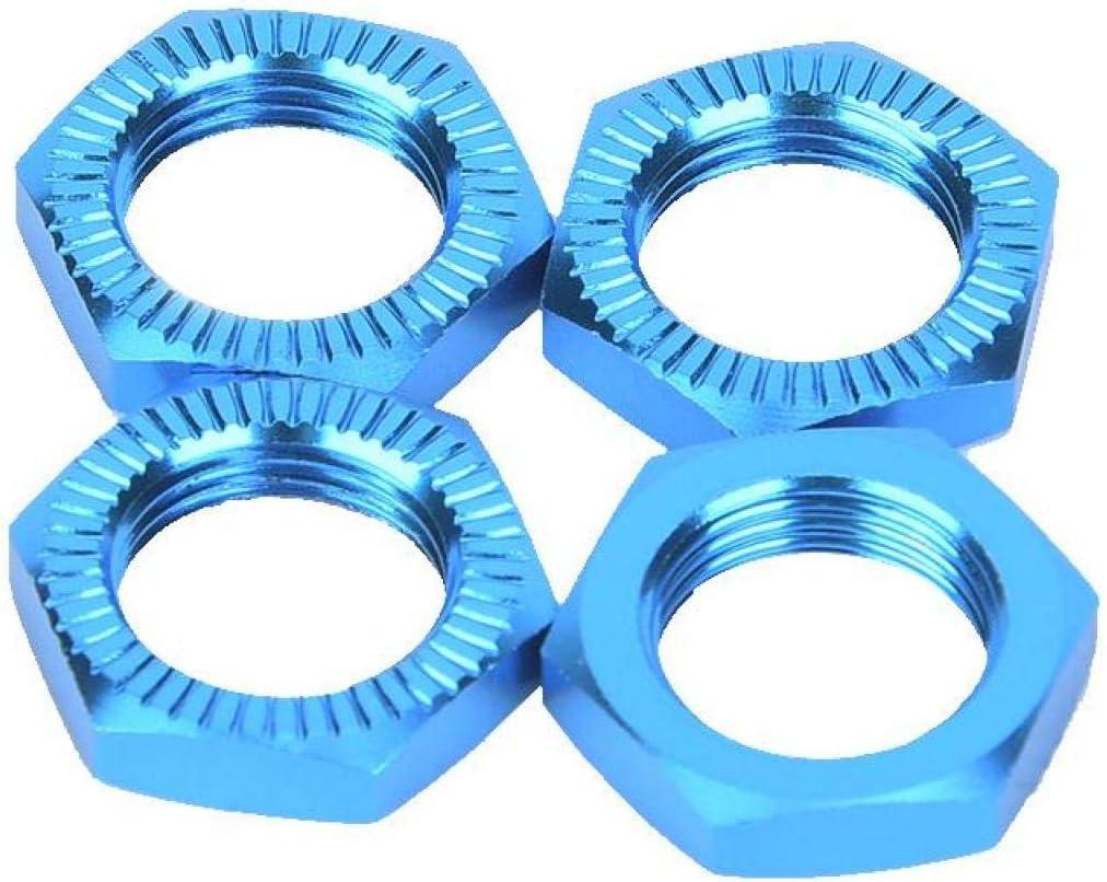 Dadi delle ruote da 4 pezzi Chiave da 17 mm Aumenta la capacit/à di presa Dadi delle ruote in lega di alluminio per chiave da 17 mm con prestazioni complete migliorate Silver