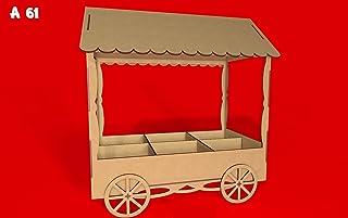 Kit para hacer carrito de chuches de madera DM para candy