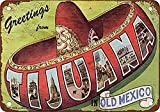 Viejo México clásico nostálgico arte retro pintura de hojalata letrero de metal decoración de pared regalo perfecto para colgar 7.8X11.8 pulgadas