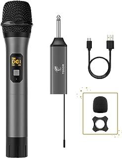 Micrófono Inalámbrico, TONOR Sistema de Micrófono de Mano Inalámbrico de Metal UHF con Receptor Receptor, Salida de 1/4
