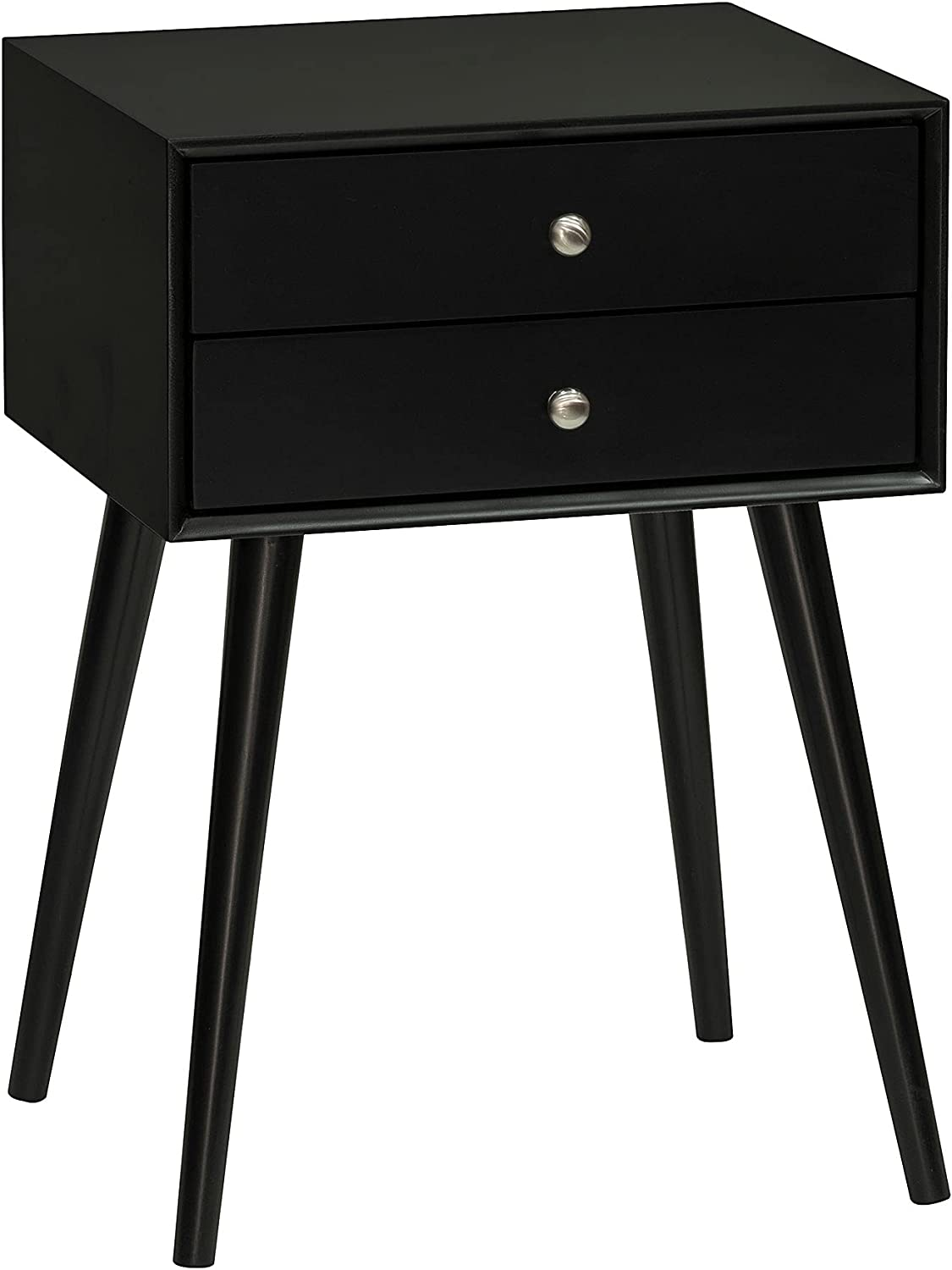 HOMCOM Modern Nightstand Mail order with 2 Pull Out Drawers Side Popular brand in the world Table End