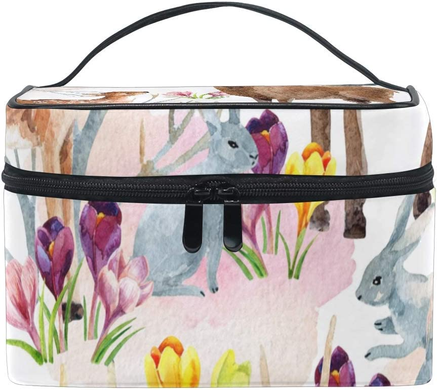 Deer And Flower Makeup Train Case Lowest price challenge Cheap SALE Start Travel Ar Portable