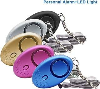JIAN YA NA 5 Pack Personal Alarm Safety Alarm Keychain Security Self-Defense Emergency Safety Alarm for Women Kids Elderly Adventurer