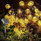 NEWYANG Solar Globe String Lights - 35.6ft 60 LED 8 Modes String Lights