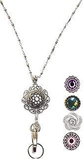Hidden Hollow Beads Snap Jewelry Lanyard, Women's Fashion Lanyard Necklace, 34