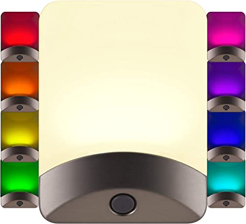 GE Color-Changing LED Night Light, Plug-in, Dusk-to-Dawn, Home Décor, Great for Kids, Ideal for Bedroom, Bathroom, Nu...