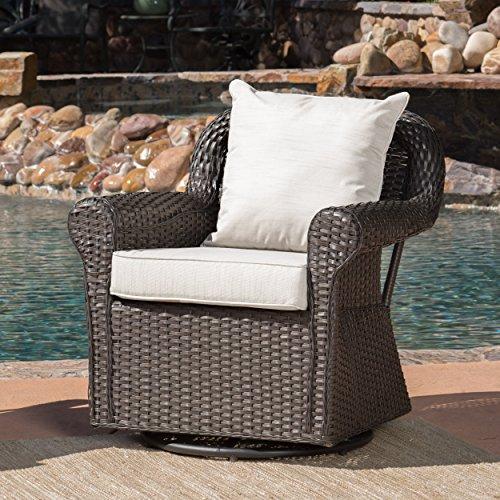Christopher Knight Home Augusta Patio Furniture ~ Outdoor Wicker Swivel Rocker (Glider) Chair (Single)