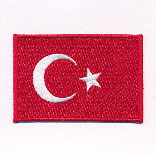 hegibaer 80 x 50 mm Türkei Flagge Türkiye Cumhuriyeti Patch Aufnäher Aufbügler 0633 X