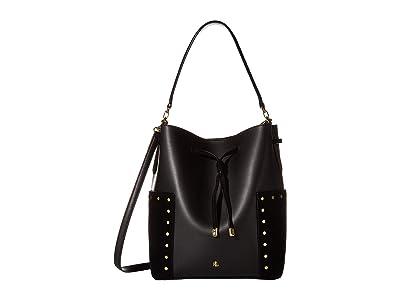 LAUREN Ralph Lauren Debby Drawstring Medium (Black) Handbags