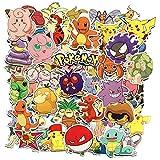 Funnyshow 80 pièces Pokémon Autocollants Paquet, Voyage Stickers Étanche pour Kid Teens, Bagages, Notebook, Snowboard, Guitar Skateboard, Bouteille d'eau (80 pièces)