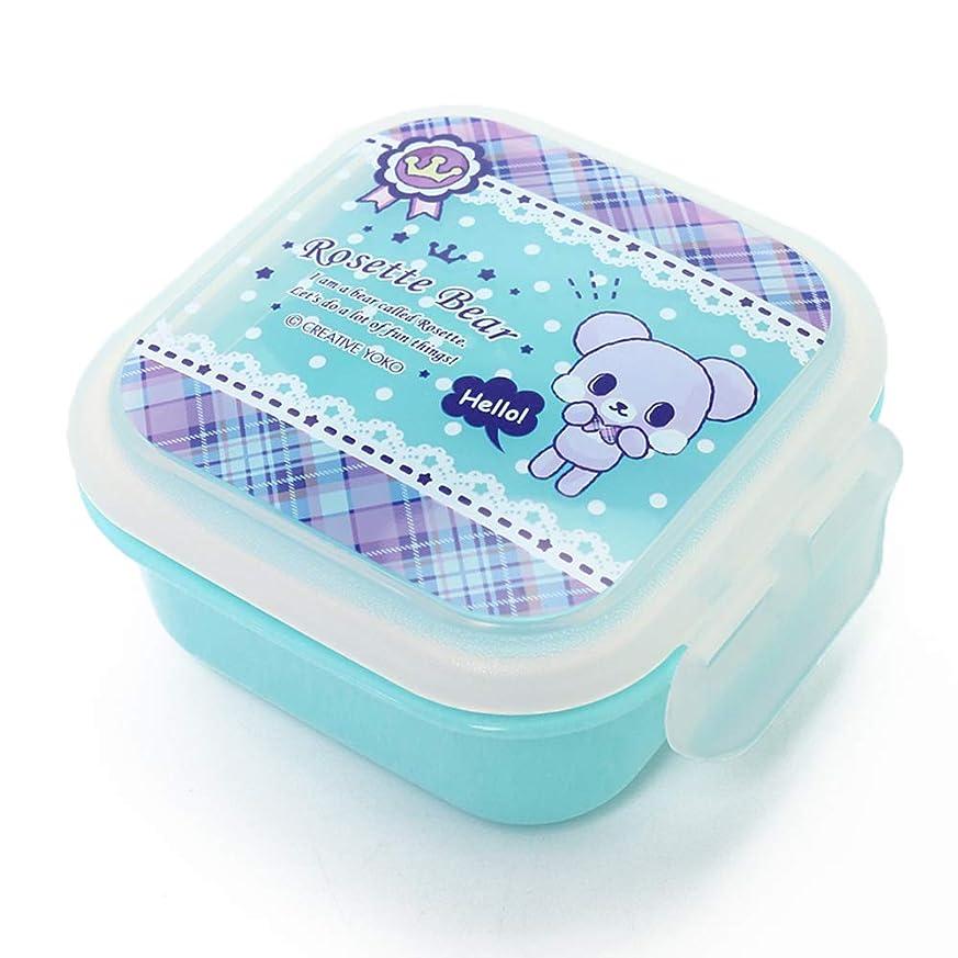 あさり要旨資料マザーガーデン Mother garden くまのロゼット Rosette Bear ランチ デザートケース フルーツケース 電子レンジ?食洗機対応 ブルー 日本製