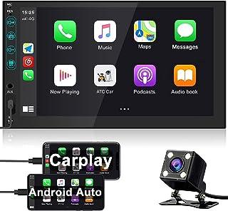 Bluetooth Autoradio 2 Din avec Carplay, Hikity Récepteur FM stéréo De Voiture à écran Tactile De 7 Pouces Supportant Mirro...