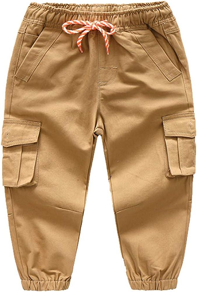 Mud Kingdom Little High quality Boys Cargo Luxury goods with Drawstrin Elastic Pants Waist