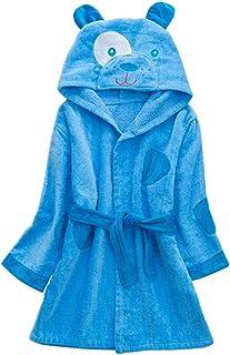 Niños Albornoz con Capucha Niños Niñas Pijama Ropa de Dormir para 3-5 Años, Azul