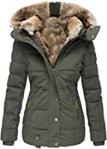 Koodred Women's Winter Warm Outwear Overcoat Hooded Faux Fur Lined Down Jacket Puffer Coat