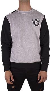 Majestic Sweater – NFL Oakland Raiders Tobias Small Logo Grey/Black