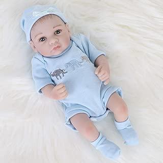 ENA Reborn Baby Boy Doll Realistic Silicone Vinyl Baby 10 inch Soft Body Lifelike Doll Gift Set for Ages 3+ (10 inch, Open Eyes Blue boy)