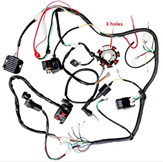 Facaing Complete Electrics All Wiring Harness Wire Loom Assembly for 150cc-300cc ATV Quad 4 Four Wheelers Go Kart Dirt Pit Bikes