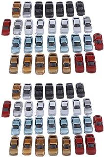 perfeclan 60 stycken gör-det-själv skala 1: 100 modellbil, miniatyrbil bordsdekorationer för hemmet