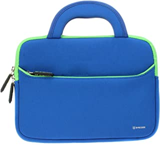 8.9-10.1 inch Tablet Sleeve, Evecase 8.9~10.1 inch Ultra-Portable Neoprene Zipper Carrying Sleeve Case Bag with Accessory Pocket - Blue/Green; for Kids Tablet 7inch / 8inch
