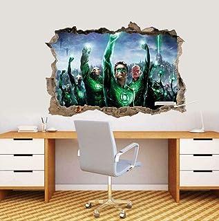 ملصق جداري بتصميم فانوس اخضر ثلاثي الابعاد