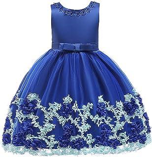 ガールズウェディングドレス 新年衣装、子供服、クリスマスの王女のドレス、女の子のドレス、子供服 誕生日イブニングボールガウン (色 : 青, サイズ : 100cm)