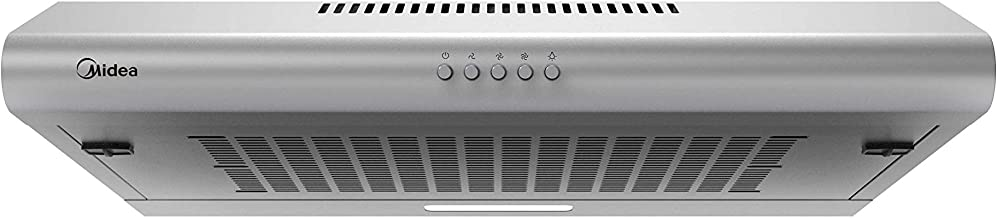 Midea 60 cm Conventional Re-Circulating Hood, Silver - 60F15, 1 Year Warranty