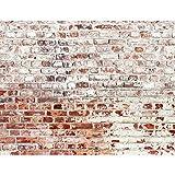 Runa Art Fototapete Steinwand Modern Vlies Wohnzimmer Schlafzimmer Flur - made in Germany - Weiss Braun 9083010b