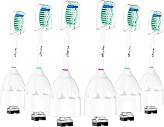 Vochigh Replacement Brush Heads Compatible with Philips Sonicare E-Series Toothbrush HX7022/66, Fit Sonicare Essence, Advance, Elite, Xtreme and Cleancare Electric Brush Handles, 6 Pack