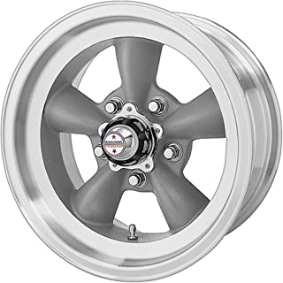 American Racing Hot Rod Torq Thrust D VN105 Torq Thrust Gray Wheel with Machined Lip (15x10