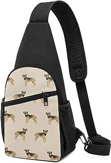 PGTry Border Terrier Dog Dogs Border Terriers Tan Sling Bag - Mochila ligera para el hombro, mochila para el pecho, bolsa ...