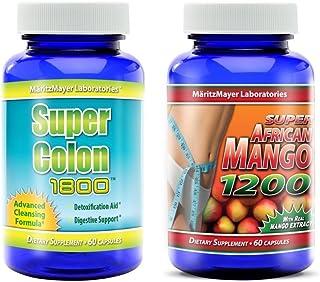 Super Colon 1800 & Super African Mango 1200 Weight Loss Cleanse 1 Bottle Each