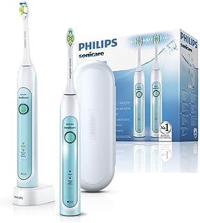 Philips 飞利浦 Sonicare HealthyWhite 电动牙刷 采用声波技术 HX6732/37 白色/绿色 两件装