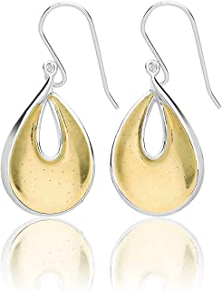 WJS30401 - Orecchini pendenti da donna, in argento Sterling 925, 2 colori, 5 grammi