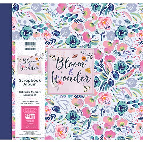 "First Edition 12x12 Álbum - Bloom and Wonder, FEALB102, Multicolor, 12"" x 12"""