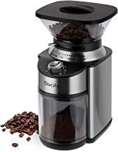 Sboly Conical Burr Coffee Grinder, Stainless Steel Adjustable Burr Mill with 19 Precise Grind Settings, Electric Coffee Gr...