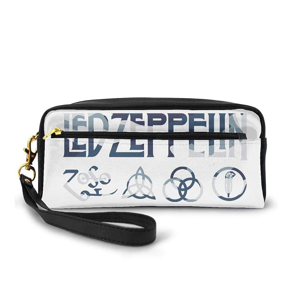超えてカレンダー捧げるペンケース PUレザー Led Zeppelin ロゴ 迷彩 多機能ケース 大容量 大人気 メイクポーチ 上品 ファッション 軽く ファスナー付き 文房具収納 柔らかい 耐久 防水 ギフト 男女兼用