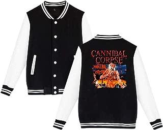 BBABC Cannibal Corpse Eaten Back To Life Mens & Womens Funny Hoodie Baseball Uniform Jacket Sport Coat Black 4XL