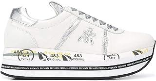 Luxury Fashion   Premiata Women BETH4517 White Leather Sneakers   Spring-summer 20