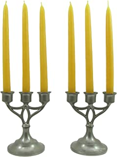 Beeswax Candle Works - Chanukah 12-Pack - 100% USA Beeswax