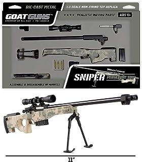 GoatGuns Miniature Camouflage Toy Sniper | 1/3 Scale | DIY Build Kit
