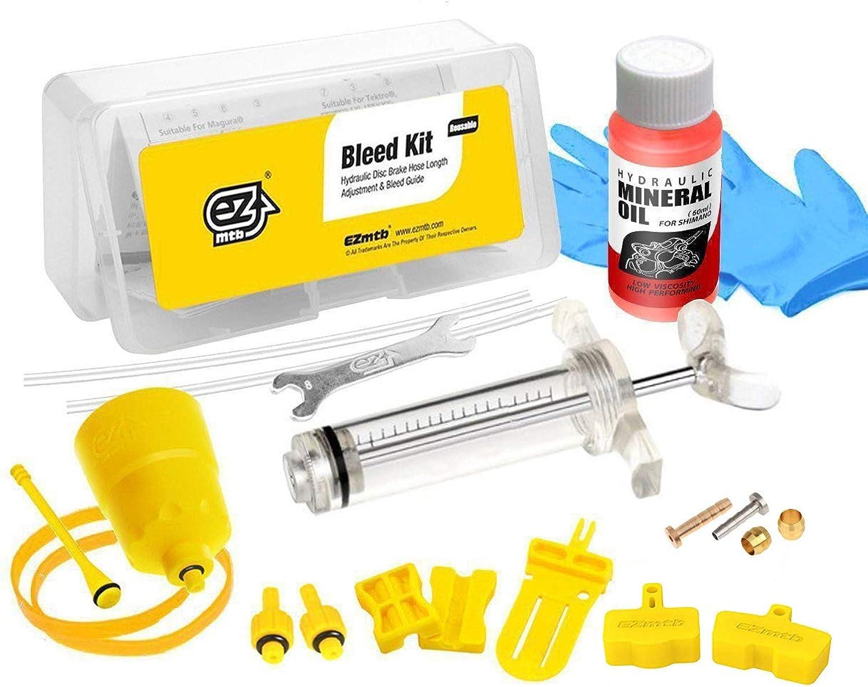 Revmega Bleeder Hydraulic Disc Brake Bleed Kit Tool for Shimano  Inc. Mineral Oil Fluid