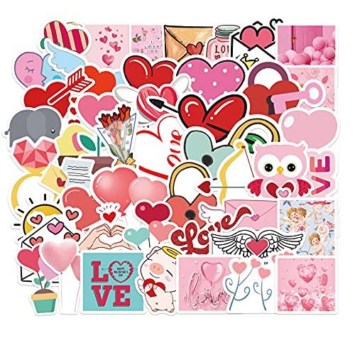 YLGG 50 Pegatinas de Graffiti de San Valentín para portátiles, patinetas, Maletas, Cascos, móviles, Motos, etc.