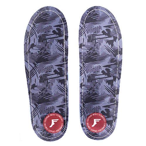 Footprint Einlegesohlen Technologie Gamechangers Custom Orthopädische Einlegesohlen, Unisex-Erwachsene, Dark Grey Camo, Size 6/6.5