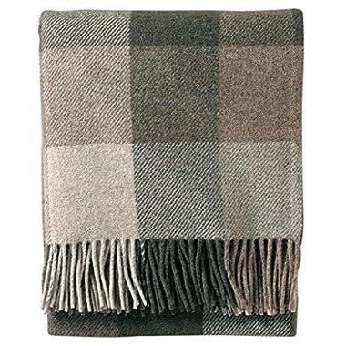 Pendleton Eco-Wise Washable Wool Fringed Throw Blanket