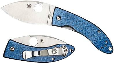 Spyderco C205GFBLP Lil' Lum Nishijin Glass Fiber Blue Folding Blade